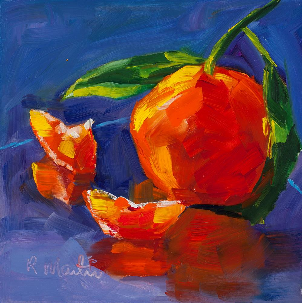 """Reflections of Orange"" original fine art by Rebecca Martin"