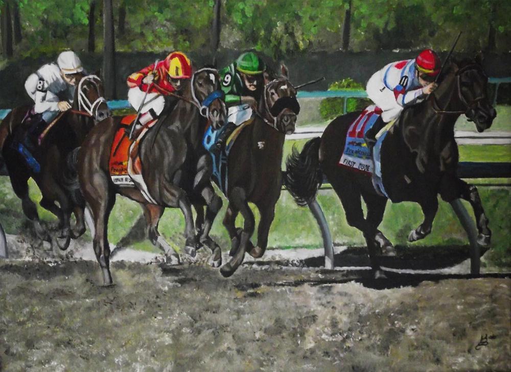 """""""Preakness race"""" original fine art by Kim Selig"""