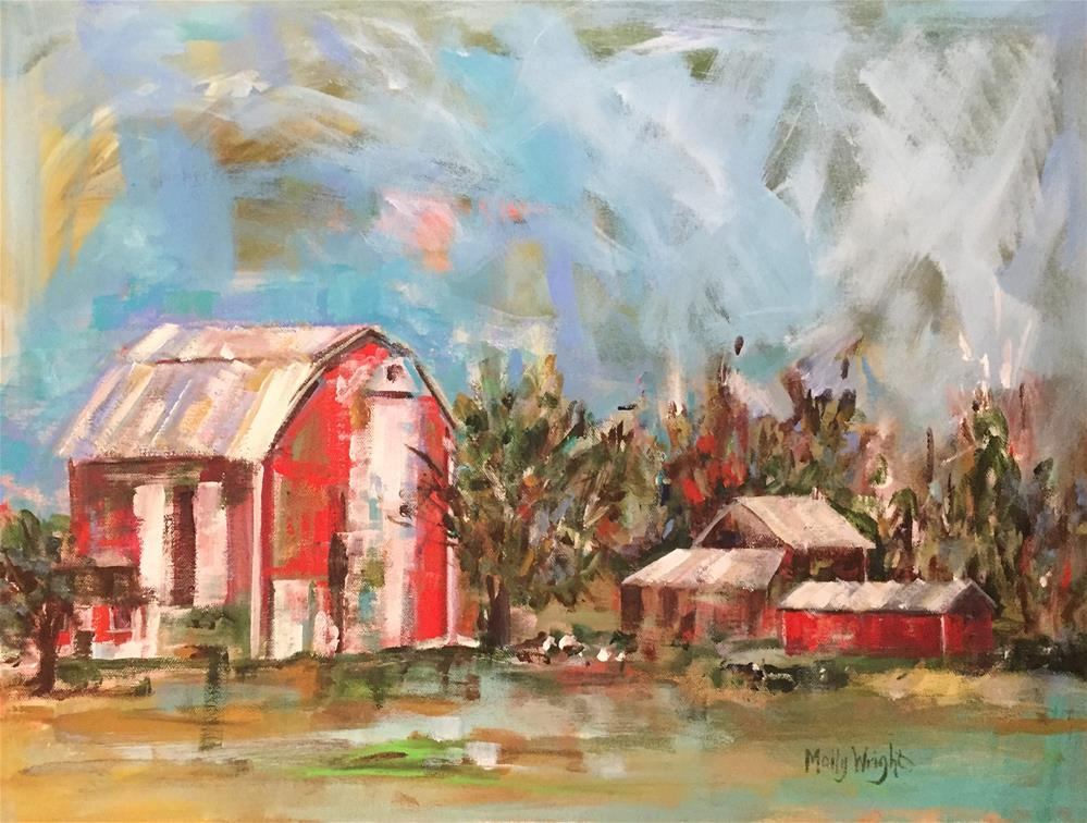 """Homestead"" original fine art by Molly Wright"