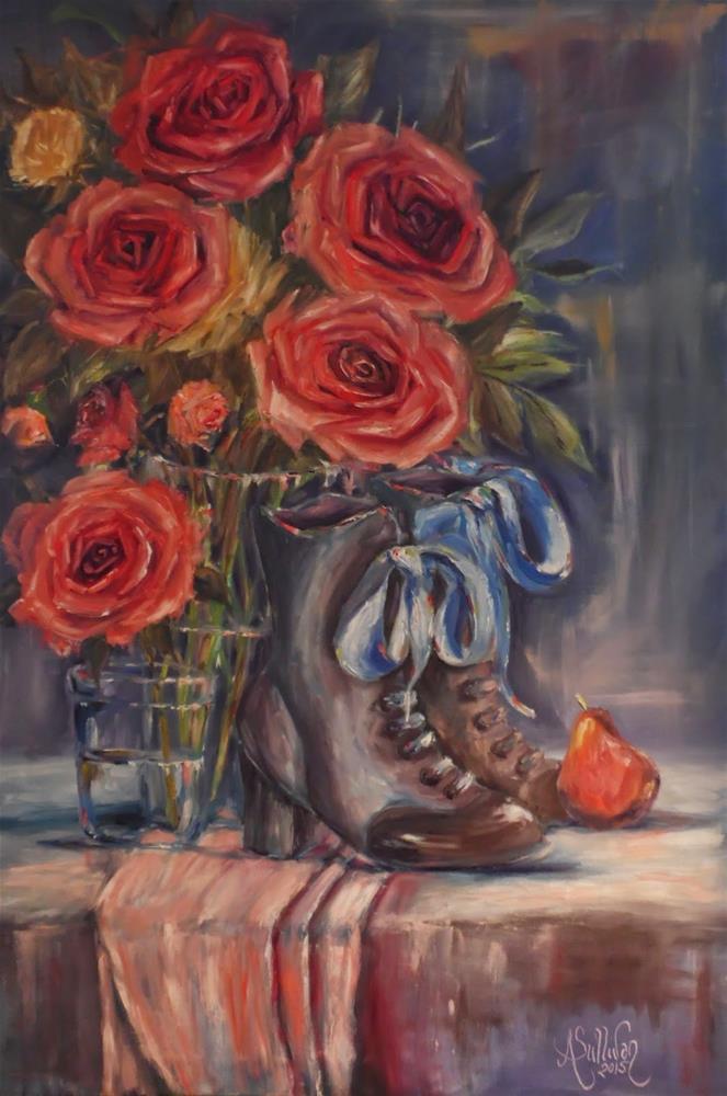 """Her Things still life painting  by Alabama Artist Angela Sullivan"" original fine art by Angela Sullivan"