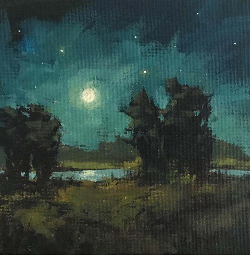 """Following the Moon"" original fine art by Shannon Bauer"