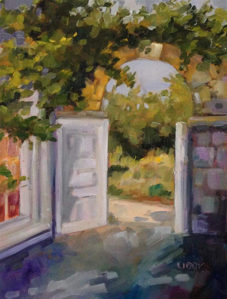 """Welcome Gate"" original fine art by Libby Anderson"