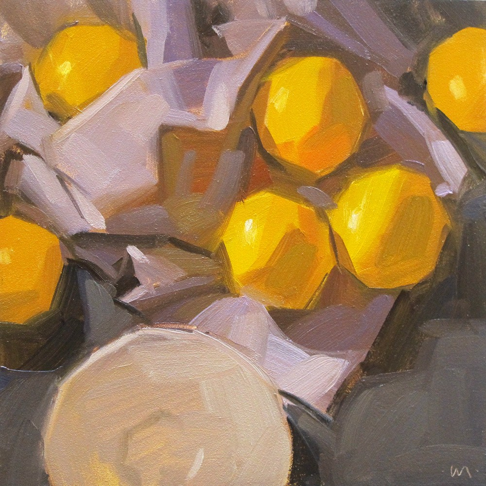 """Lazy Lemons"" original fine art by Carol Marine"
