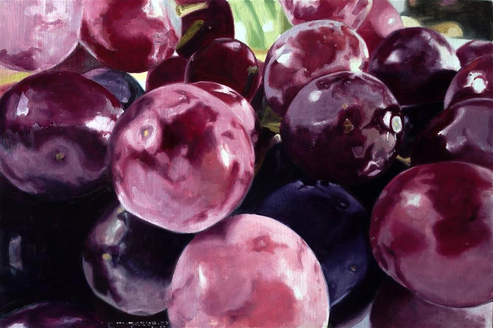 """Grapes"" original fine art by James Coates"