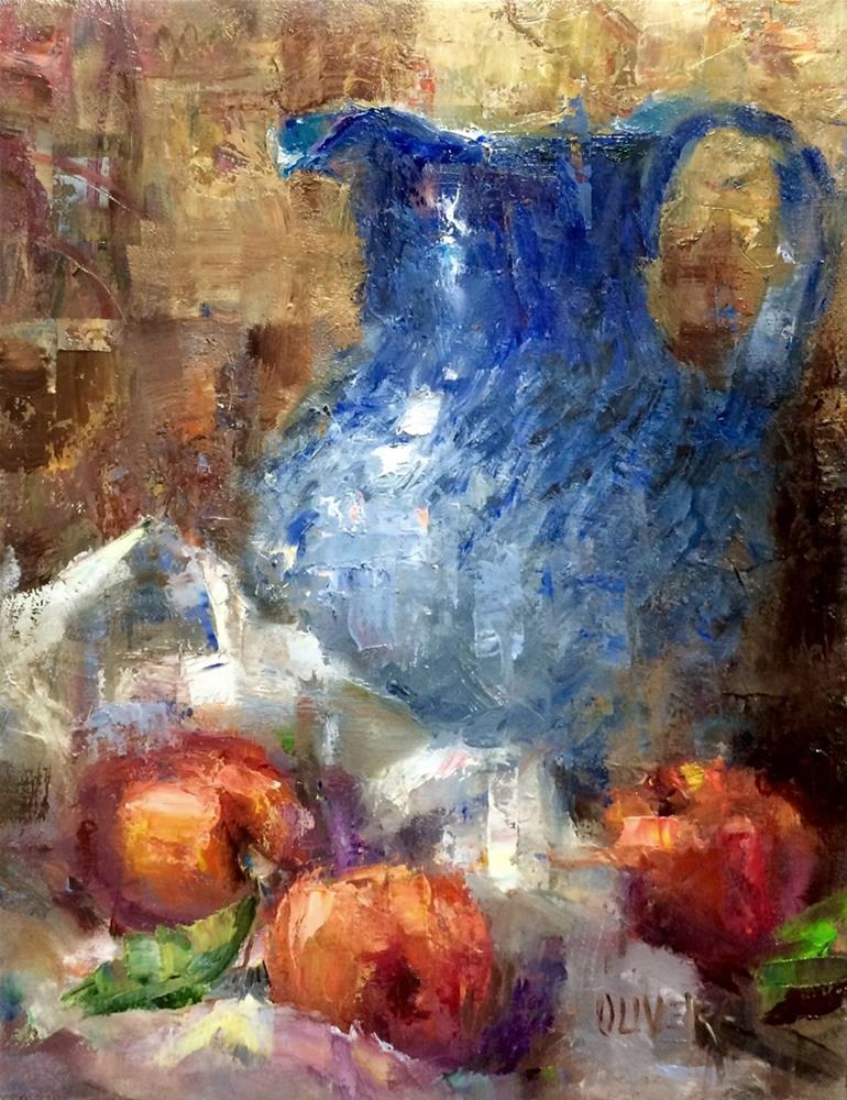 """Pitcher And Fruit."" original fine art by Julie Ford Oliver"