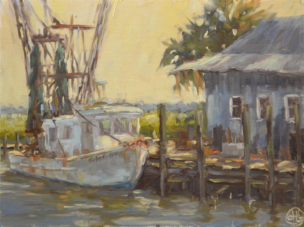 """dock life"" original fine art by Dottie  T  Leatherwood"