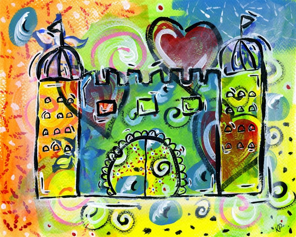 """Dream Castle"" original fine art by Kali Parsons"