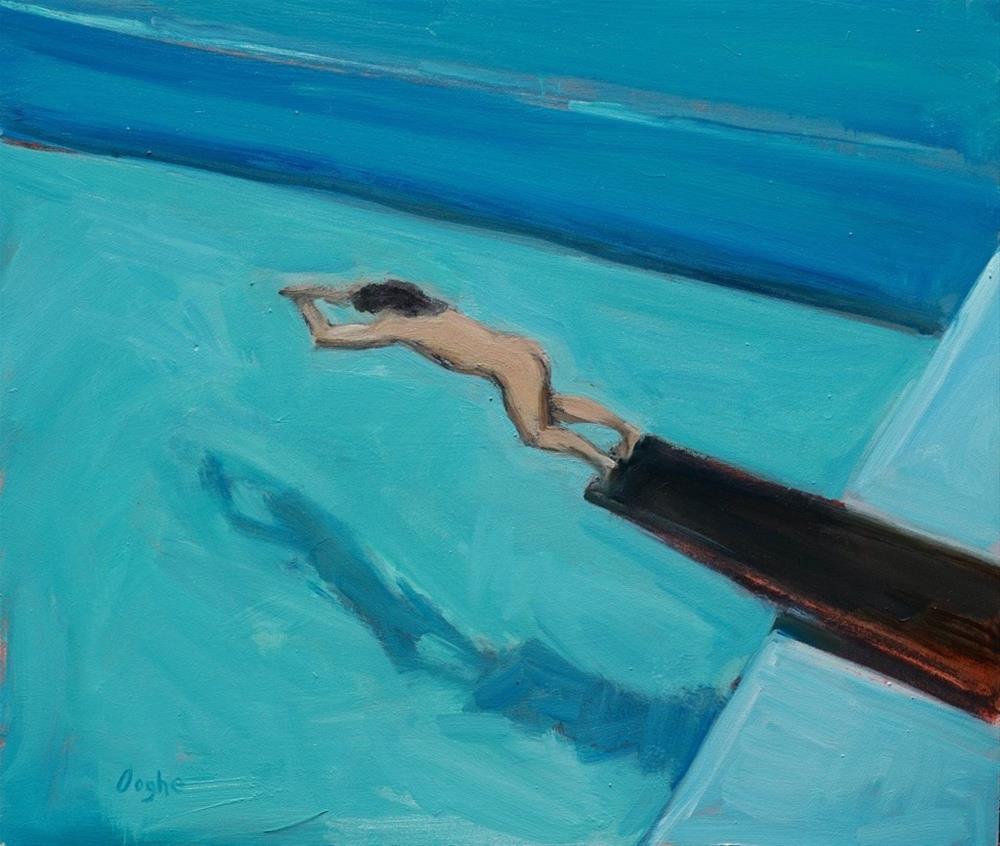 """Diver"" original fine art by Angela Ooghe"