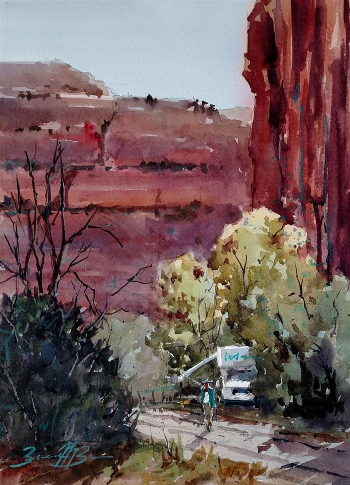 """Setting Up Camp"" original fine art by Brienne M Brown"