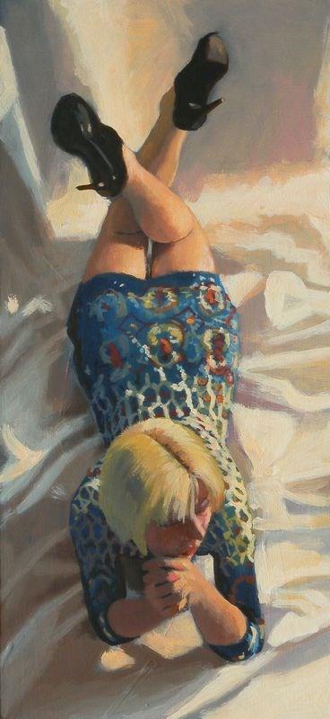 """""""Patterned dress"""" original fine art by Peter Orrock"""