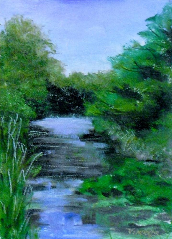 North Park Petite ~5x7~ oil on linen original fine art by Vincenza Harrity