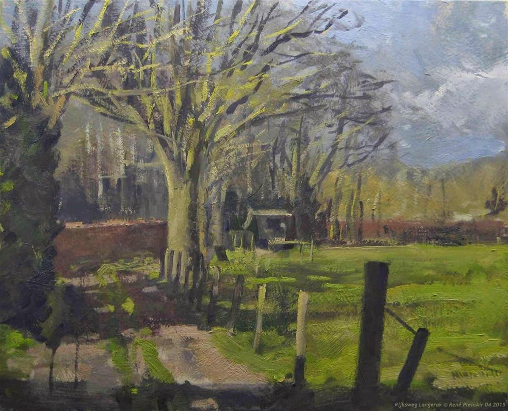 """Rijksweg Langerak The Netherlands"" original fine art by René PleinAir"