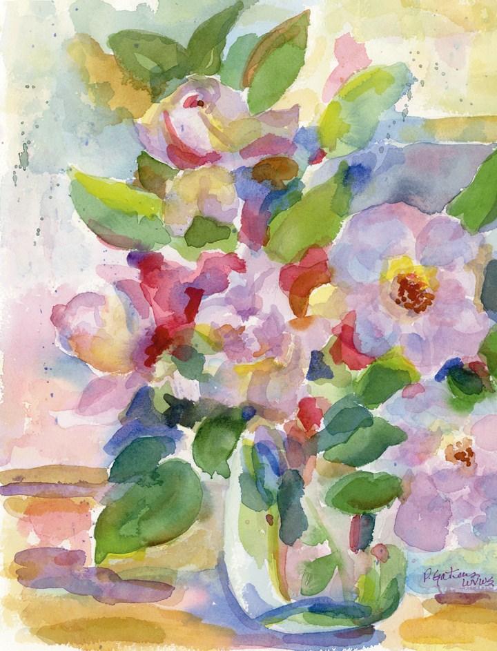 Paper Roses original fine art by Pamela Gatens