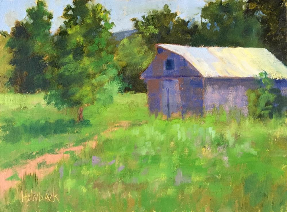 """Hidden Barn"" original fine art by Pam Holnback"