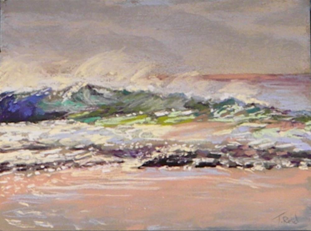 """Breaking waves"" original fine art by Toby Reid"