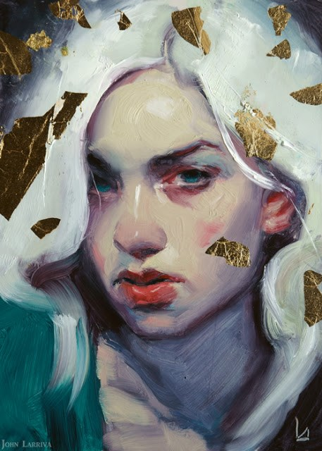 """Gilt Fall"" original fine art by John Larriva"