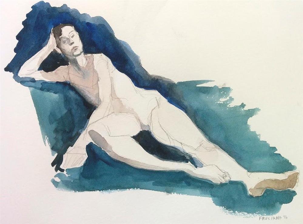 """Dancer Lying Down"" original fine art by Natalie Fruciano"