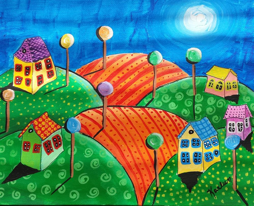 """Hills of Joy"" original fine art by Karleen Kareem"