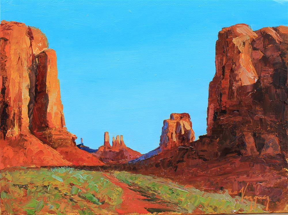 """""""western landscape"""" original fine art by Marco Vazquez"""