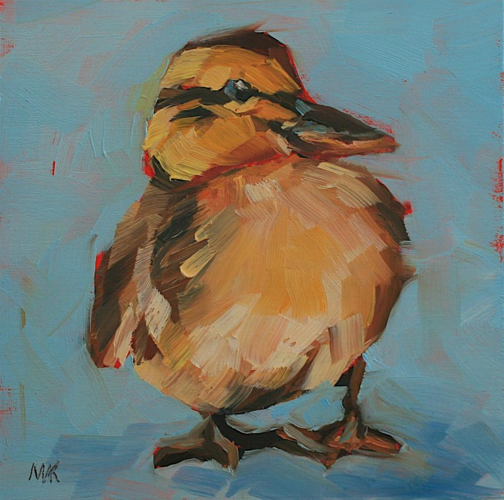"""Duckling"" original fine art by Mary Anne Cary"