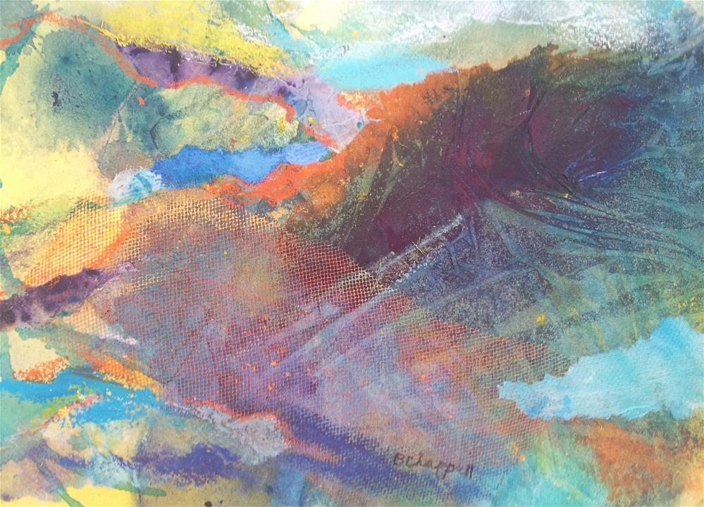 """""""Misty Hills"""" original fine art by Becky Chappell"""