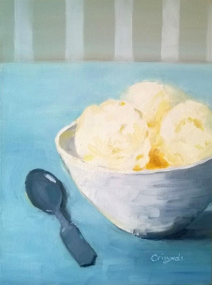 """#8 oil  Ice Cream Dream"" original fine art by Crisynda Buss"