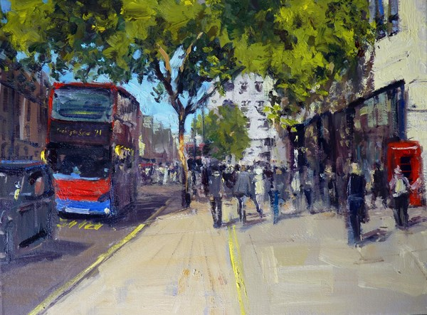 """Summerlight Charing Cross"" original fine art by Adebanji Alade"