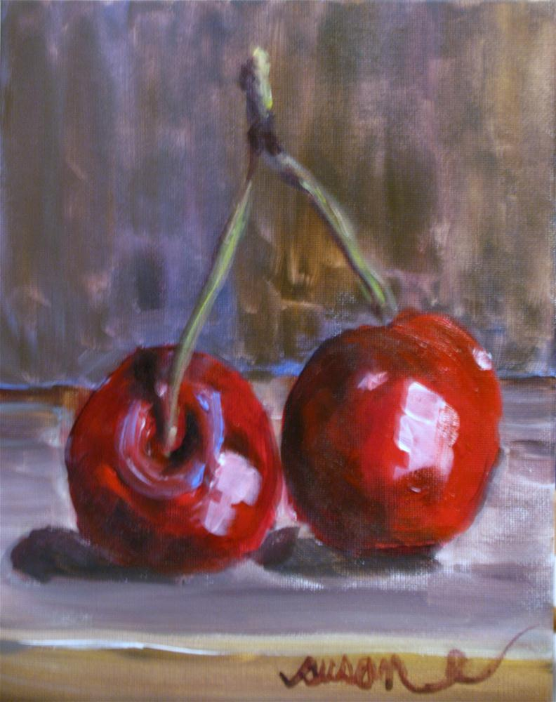 """Cherry Pickin'"" original fine art by Susan Elizabeth Jones"