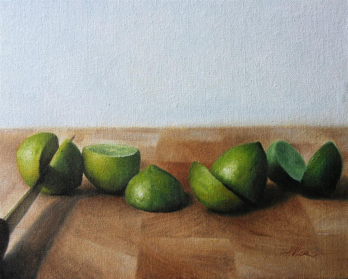 """Sliced Limes"" original fine art by Jonathan Aller"