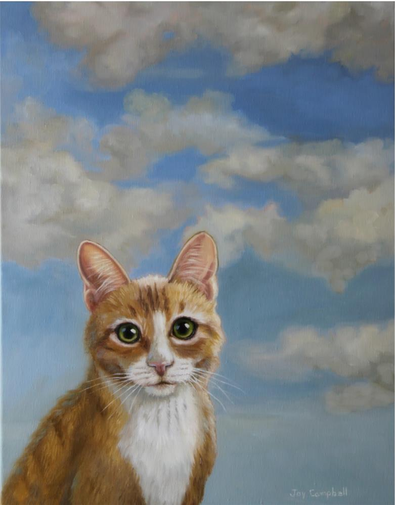 """Cat in the Clouds"" original fine art by Joy Campbell"
