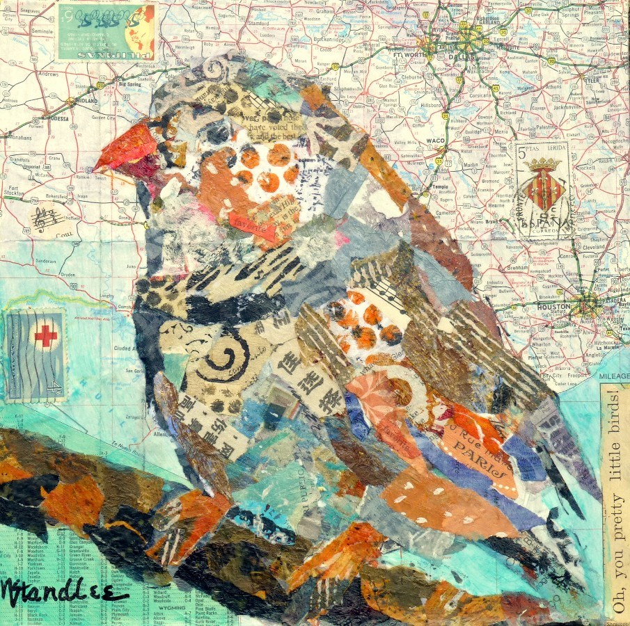 """Pretty Bird 13065"" original fine art by Nancy Standlee"