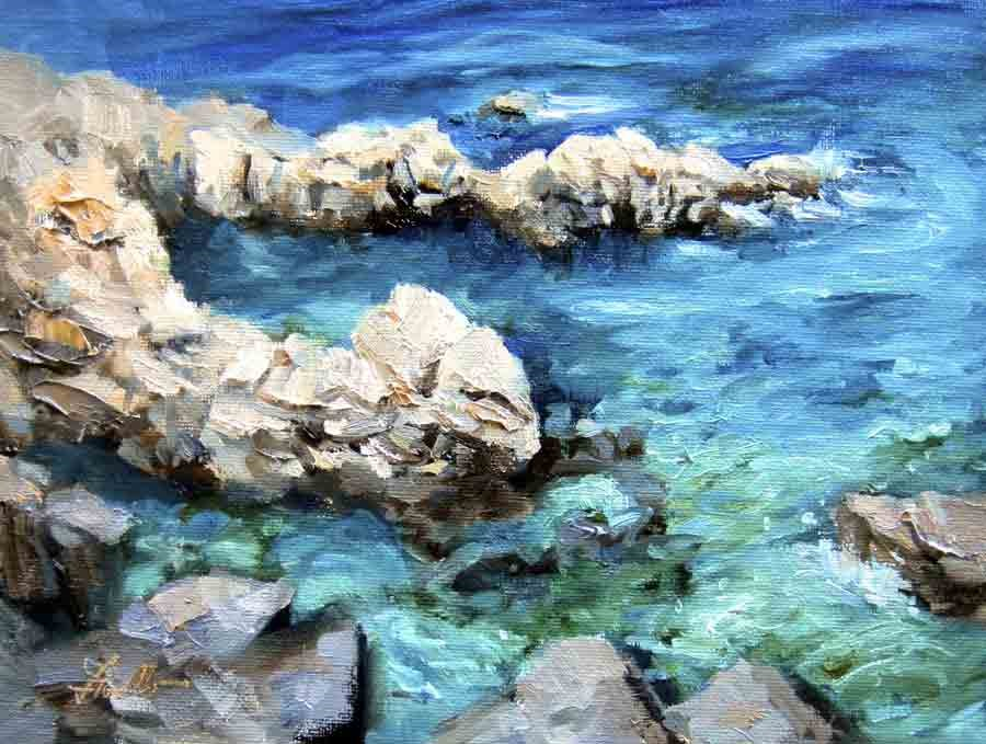 """Costa Brava II"" original fine art by Pat Fiorello"