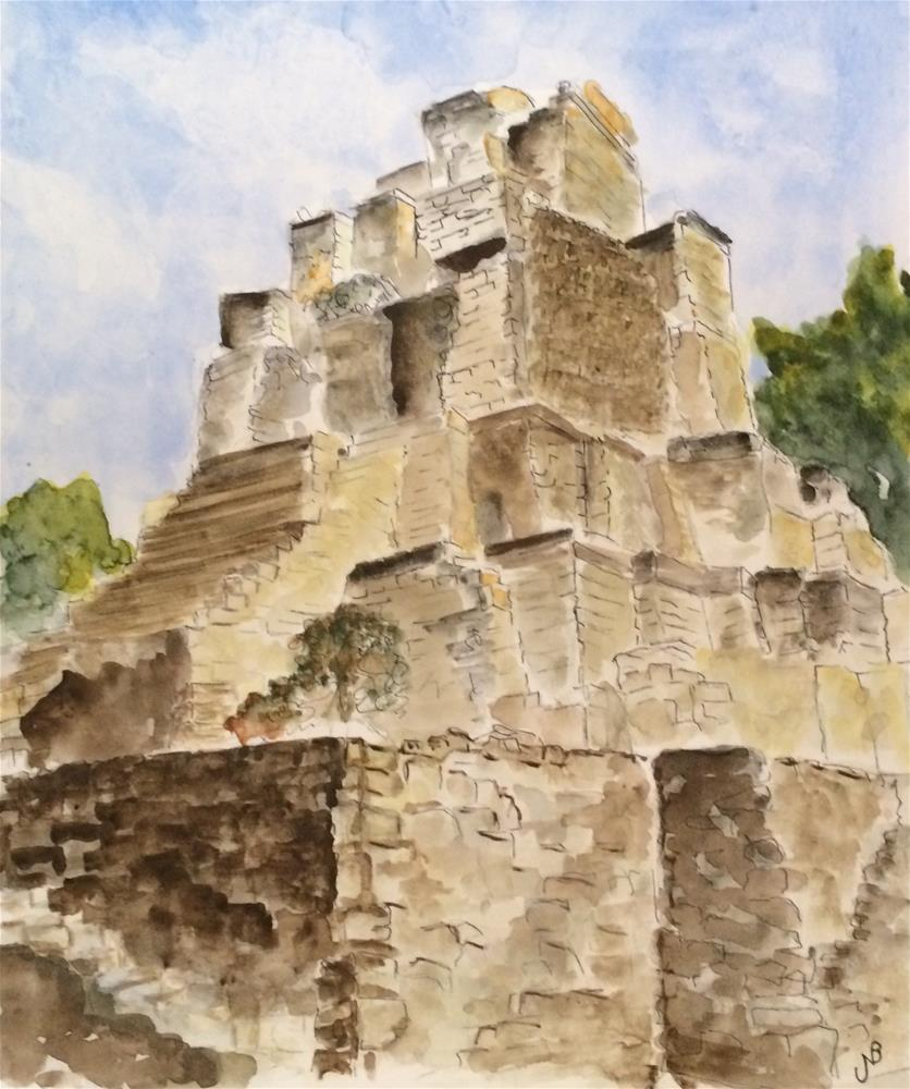 """Ruins NFS"" original fine art by Nancy Beard"
