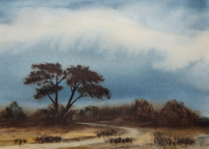 """Summer Rain Clouds"" original fine art by Jean Lurssen"