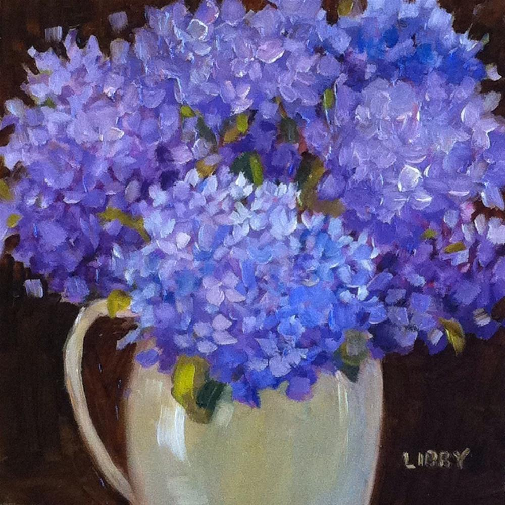 """Midnight Blooms"" original fine art by Libby Anderson"