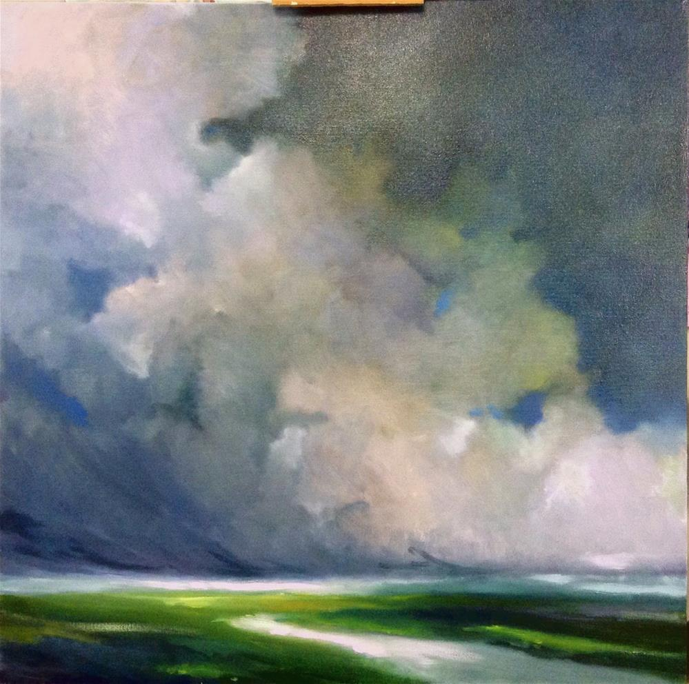 """Thunderhead Drama"" original fine art by Cathy Boyd"