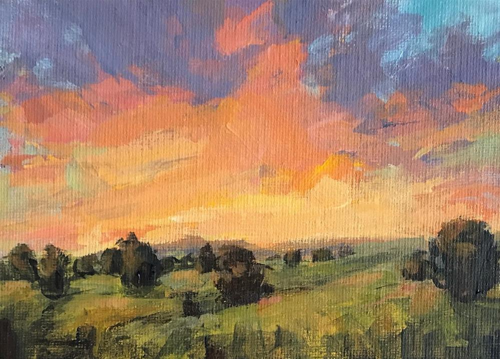"""""""The End Of A Good Day"""" original fine art by Shannon Bauer"""