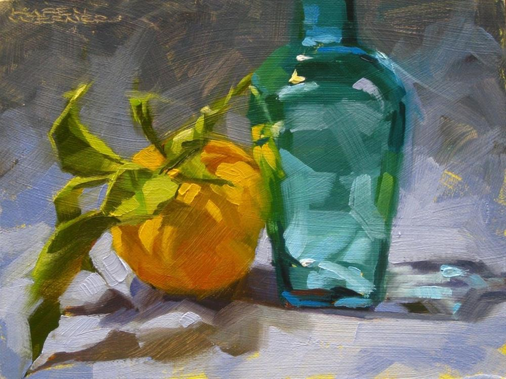 """Leaning Lemon"" original fine art by Karen Werner"