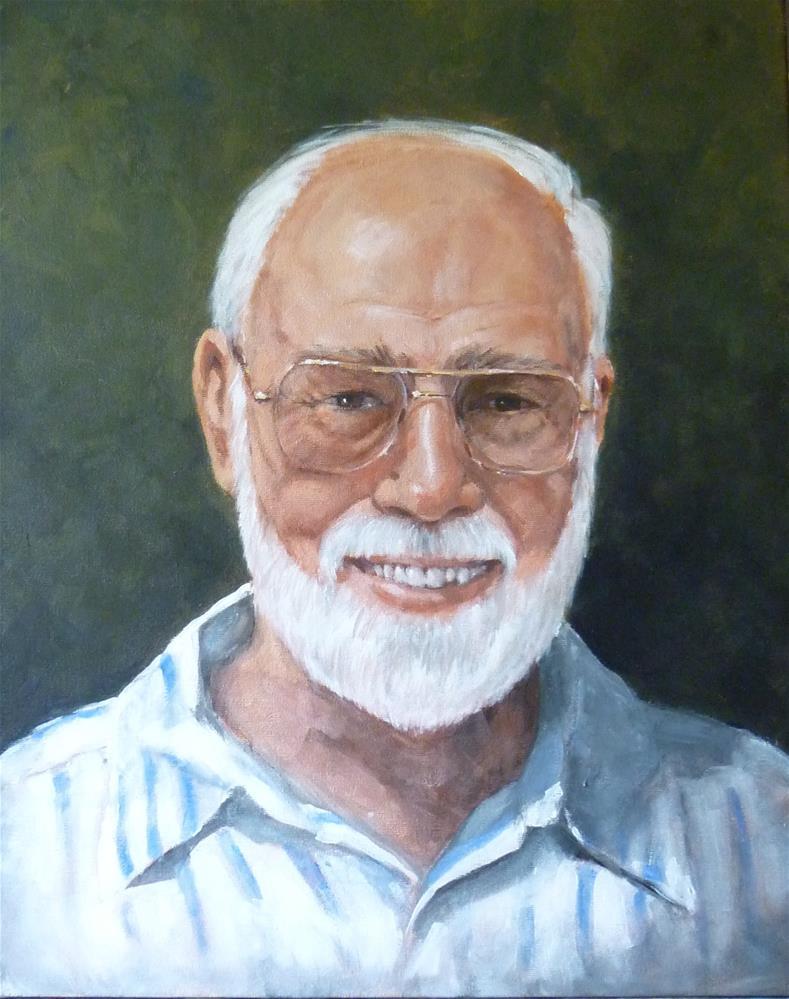 """Portrait of Walter - a Commission"" original fine art by Helene Adamson"