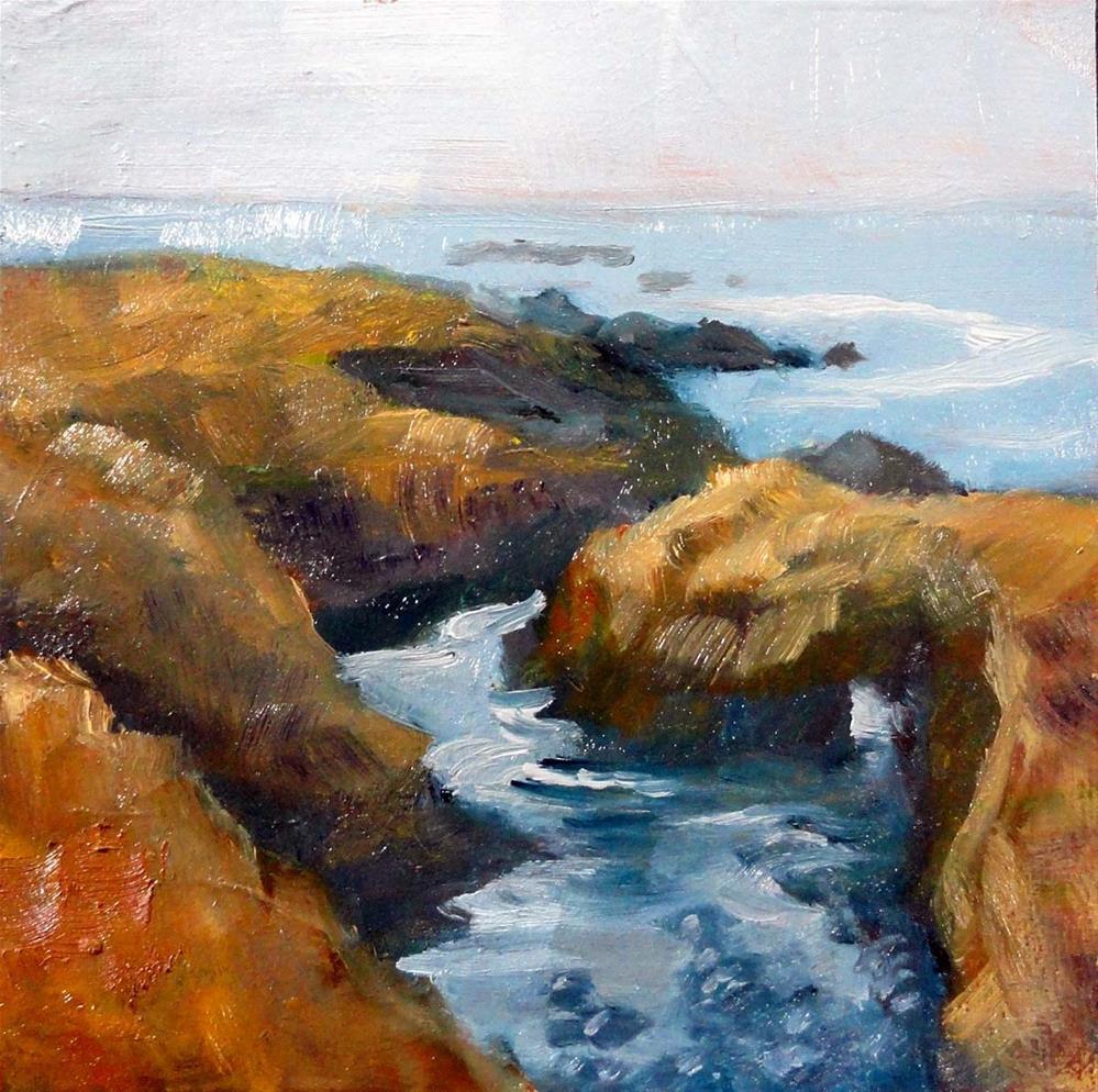 """Rocky Inlet"" original fine art by Cietha Wilson"
