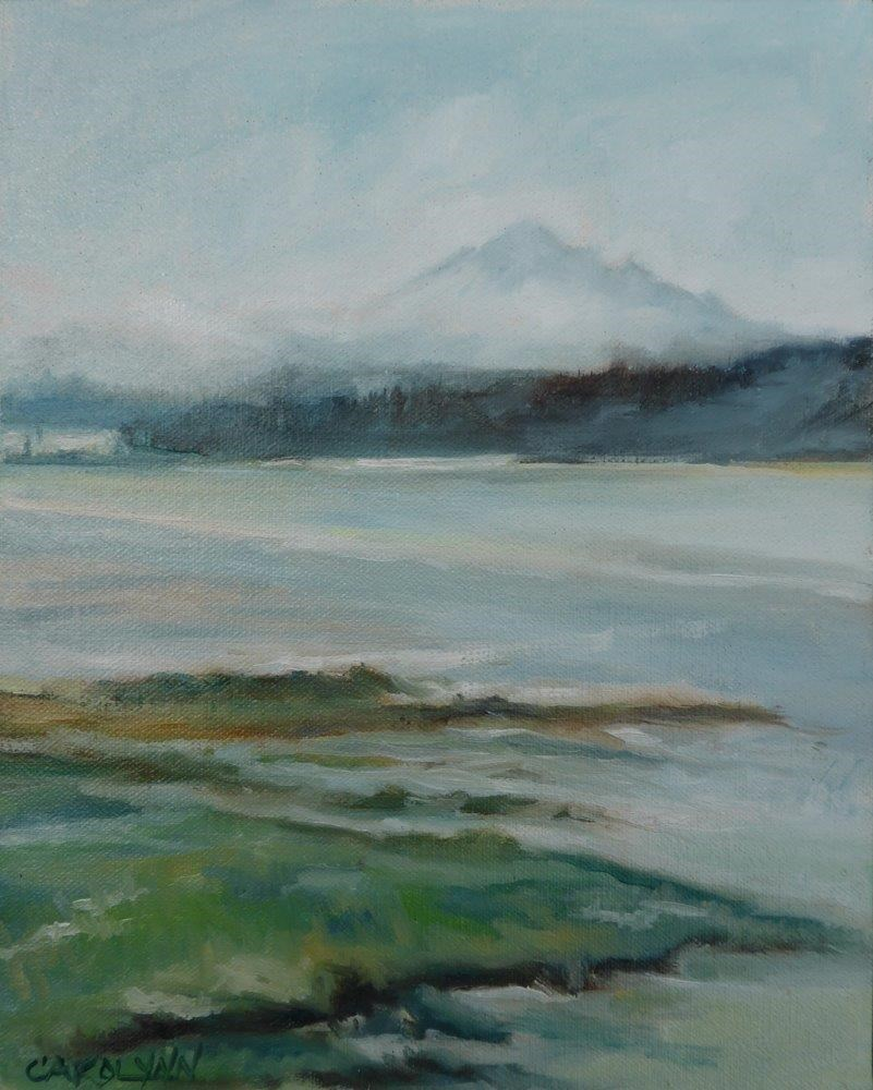 """Mt Baker From Boundary Bay"" original fine art by Carolynn Doan"