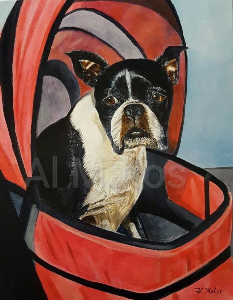 """""""Going for a ride"""" original fine art by Al Matos"""
