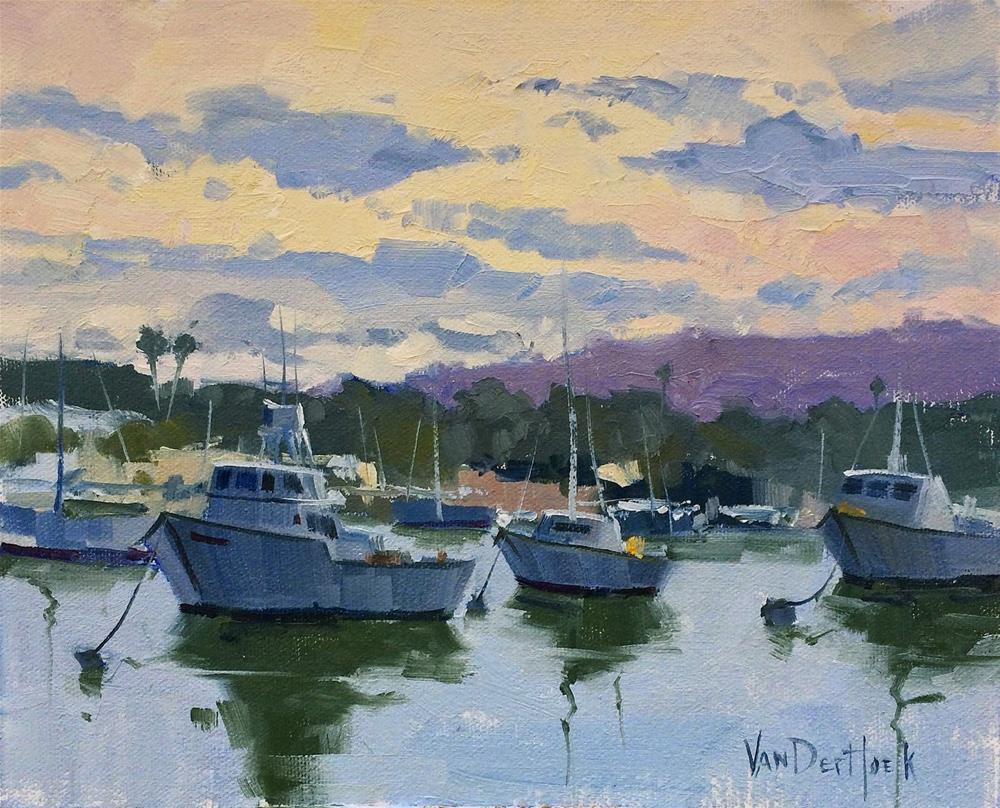 """Floating Under the Clouds - Original Oil Painting of Boats - Yacht Art - Sailing Art - Living Room A"" original fine art by Kim VanDerHoek"