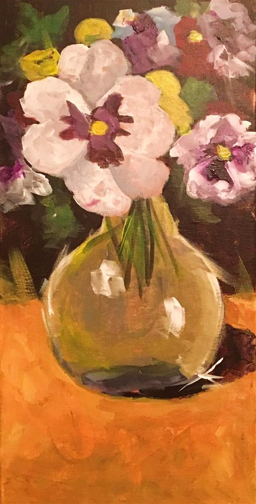 """Pansies"" original fine art by Susan Elizabeth Jones"