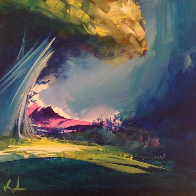 """Beneath a Glance"" original fine art by David Kuhn"
