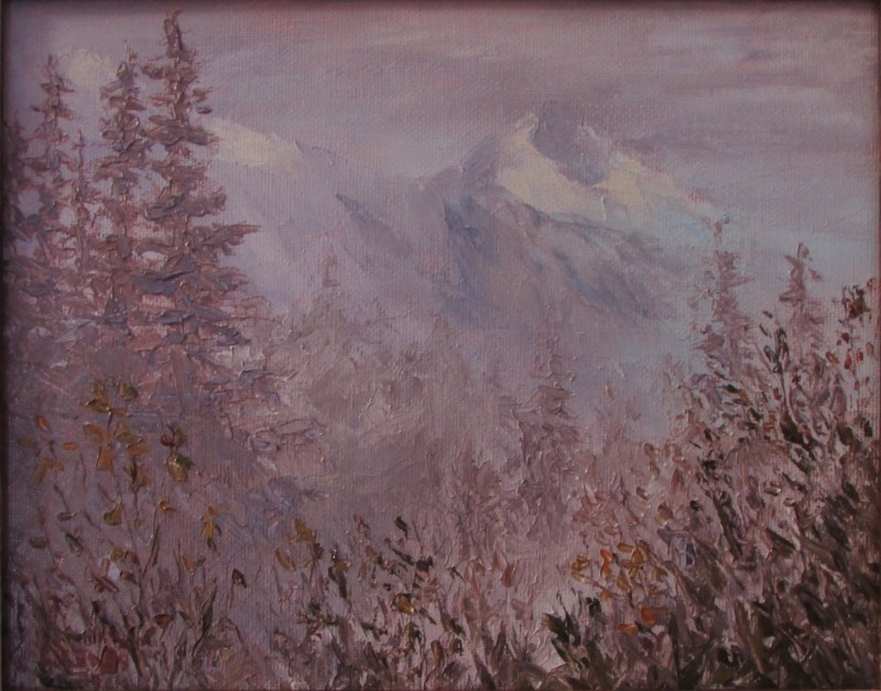 """Mendenhall Fog"" original fine art by Christine Lewis"