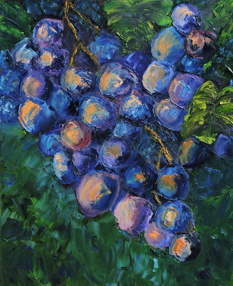 """Grapes on the Vine"" original fine art by Linda mooney"