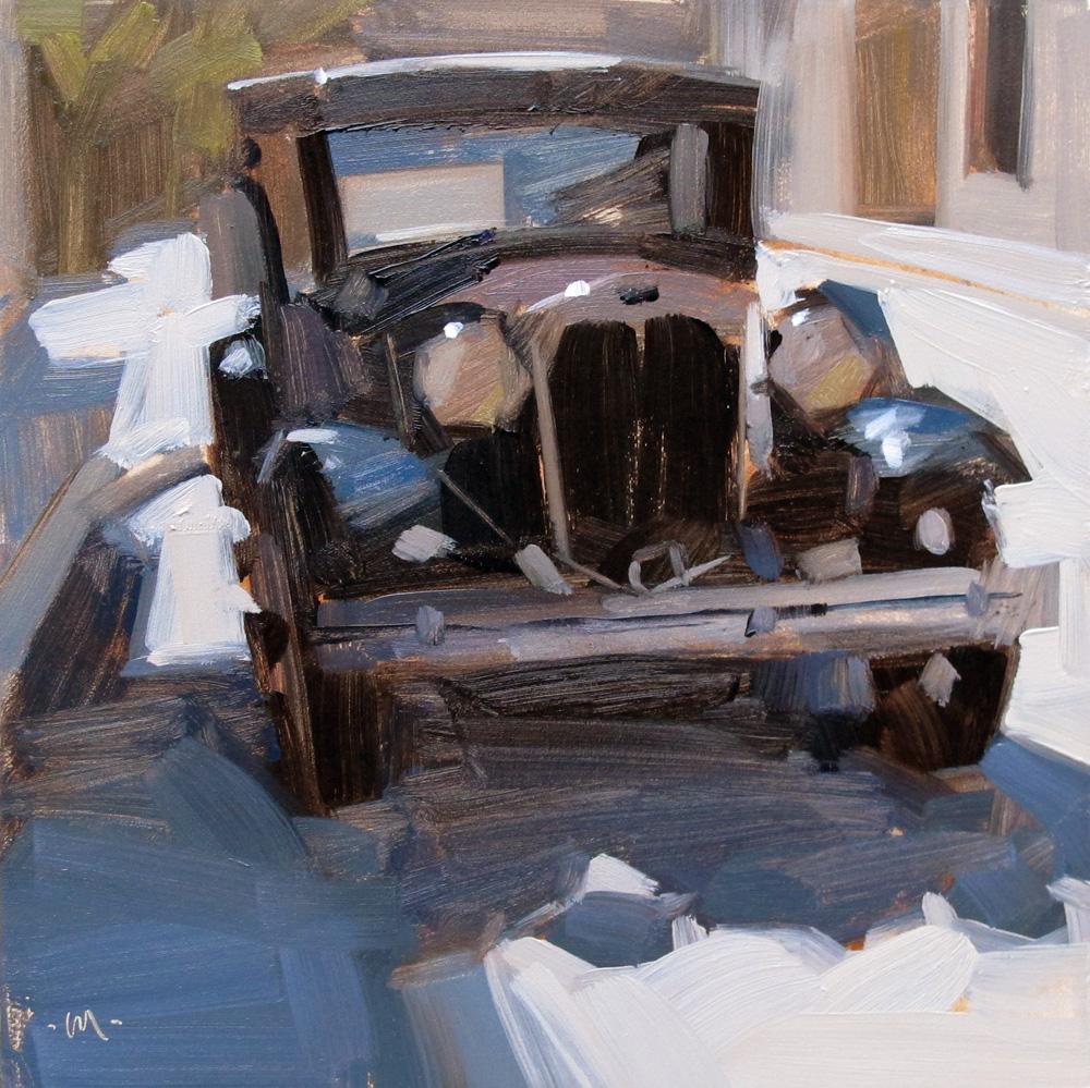 """""""Model A"""" original fine art by Carol Marine"""