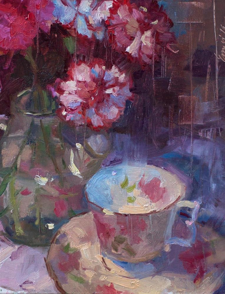 """French Carnations"" original fine art by Emiliya Lane"