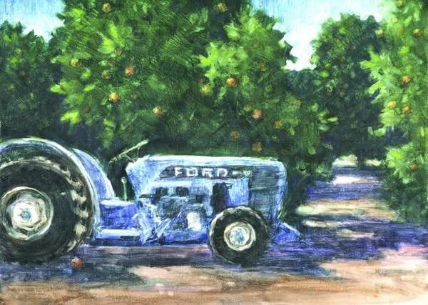 """The Old Ford Tractor"" original fine art by Ginger Pena"